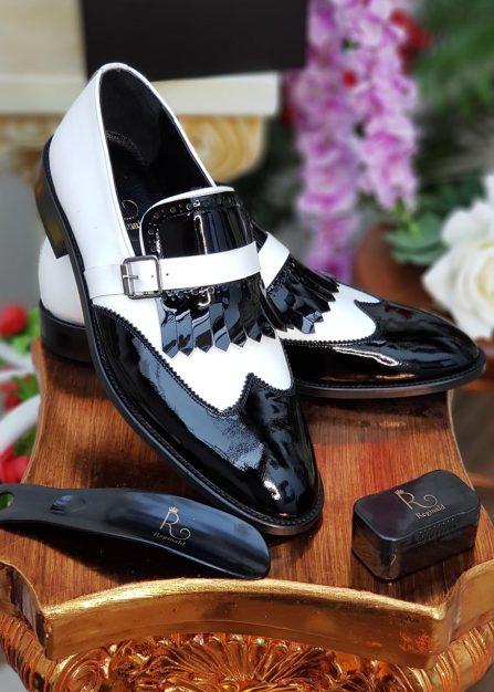 pantofi albi lacuiti din piele naturala 1432